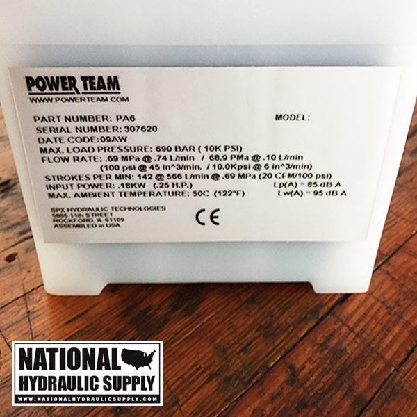Power Team PA6 Pump