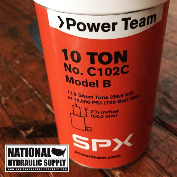 Power Team C102C. Single-Acting Hydraulic Cylinder.