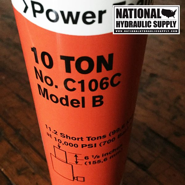 Power Team C106C. Single-Acting Hydraulic Cylinder.